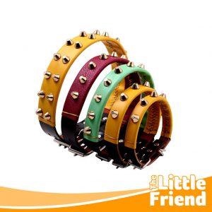 collar kulit kalung anjing variasi duri spike 1