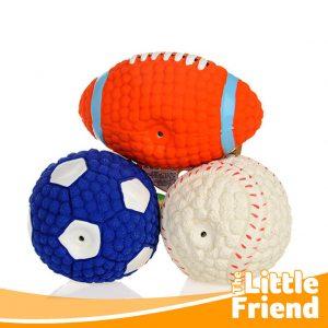 mainan gigitan anjing kucing bola rugby baseball 1