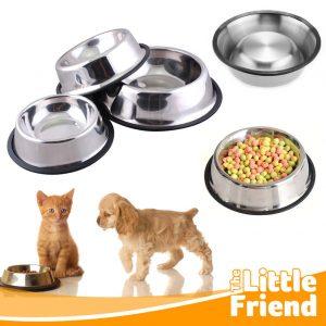Mangkuk Tempat Makan Anjing/Kucing Piring Stainless Polos 1