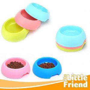 mangkuk tempat makan bulat polos anjing kucing 1