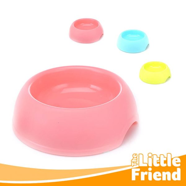 mangkuk tempat makan bulat polos anjing kucing 2