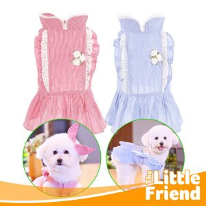 Princess Dress Anjing Set Stripe dan Hair Band 1