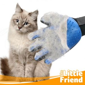 Sikat Sarung Tangan Pemijat/Perapi Bulu Anjing Kucing