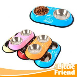 tempat makan minum double stainless 1
