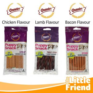 camilan anjing gnawlers puppy snack 1